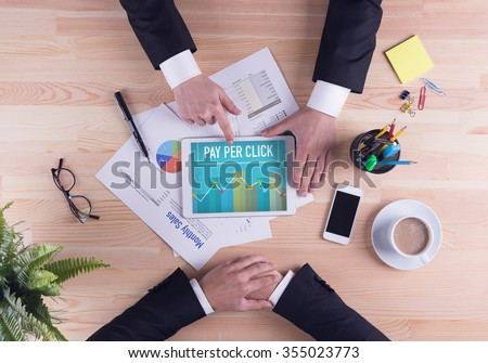 Business team concept - PAY PER CLICK - stock photo