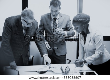 Business Team Corporate Organization Meeting Concept - stock photo