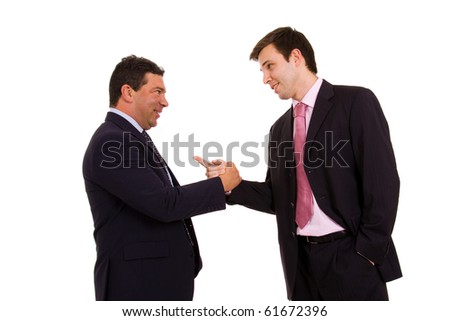 Business team hand shake at the office - stock photo