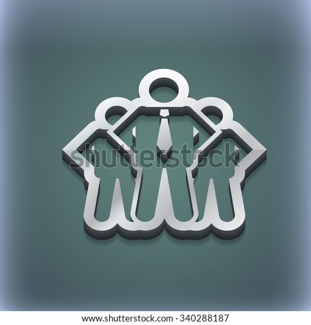 business team icon symbol. 3D style. Trendy, modern design with space for your text illustration. Raster version - stock photo