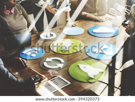 Business Team Meeting Discussion Networking Sharing Concept - stock photo