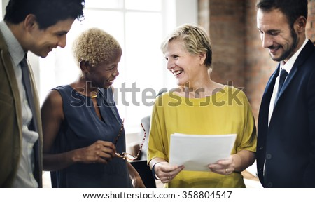 Business Team Meeting Discussion Talking Concept - stock photo