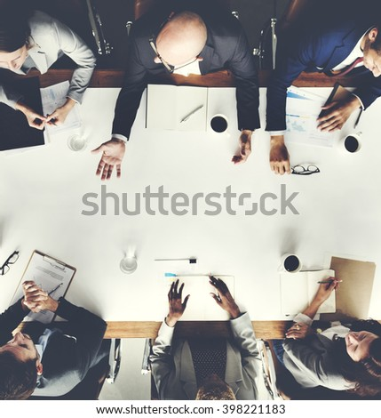 Business Team Meeting Planning Strategy Concept - stock photo