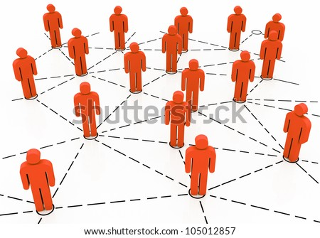 Business team Network - stock photo
