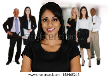 Business Team of Mixed Races at Office - stock photo