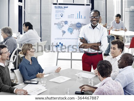 Business Team Profit Statistical Meeting Concept - stock photo