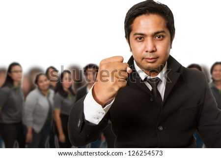 Business team ready for work - stock photo