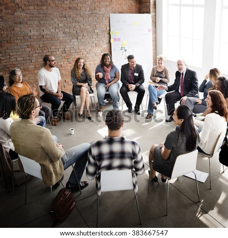 Business Team Seminar Corporate Strategy Concept - stock photo