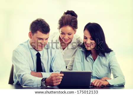 Business team working - stock photo