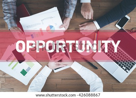 Business team working and Opportunity concept - stock photo