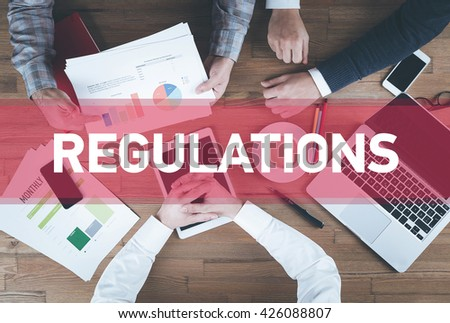 Business team working and Regulations concept - stock photo