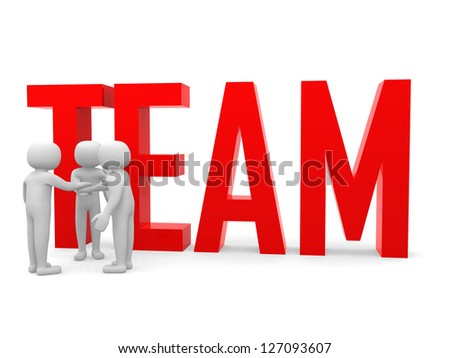 Business teamwork building concept. Isolated - stock photo