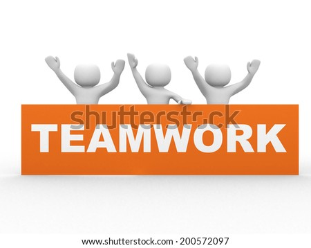 Business teamwork concept - this is 3d illustration - stock photo