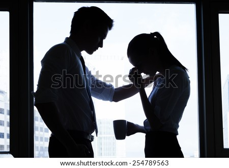 Business, teamwork, crisis concept - stock photo
