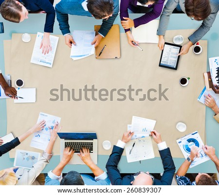 Business Teamwork Discussion Meeting Planning Concept - stock photo
