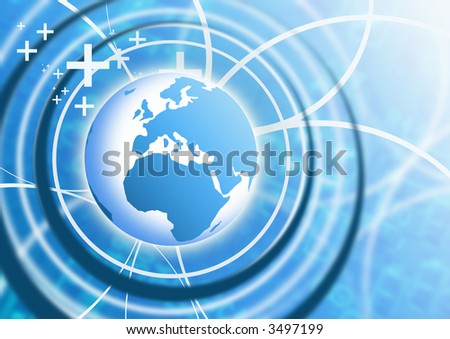 Business Technology Background - stock photo