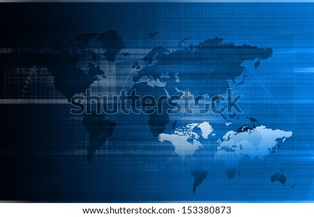 Business Technology Concept on Worldwide Report View - stock photo