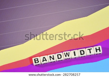 Business Term with Climbing Chart / Graph - Bandwidth - stock photo