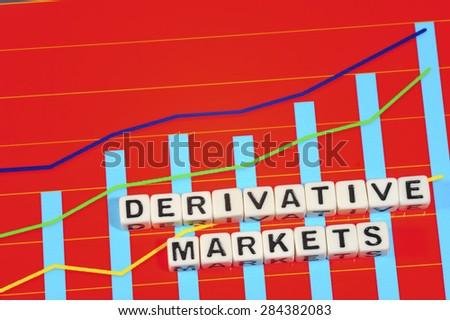 Business Term with Climbing Chart / Graph - Derivative Markets - stock photo