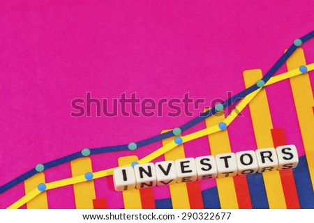 Business Term with Climbing Chart / Graph - Investors - stock photo
