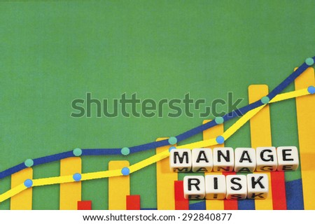 Business Term with Climbing Chart / Graph - Manage Risk - stock photo