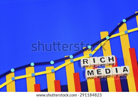 Business Term with Climbing Chart / Graph - Rich Media - stock photo