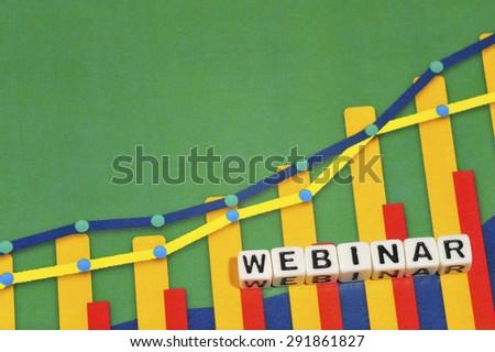 Business Term with Climbing Chart / Graph - Webinar - stock photo
