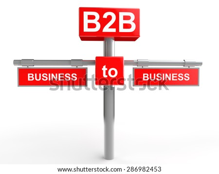 Business to Business concept - stock photo