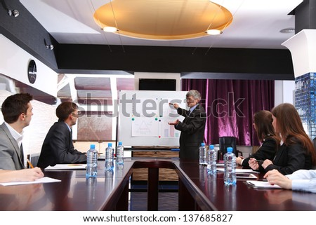 Business training at office - stock photo