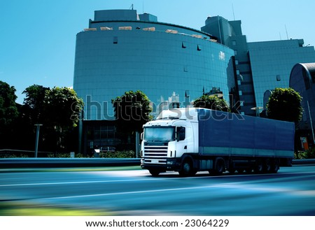 business transportation - see other trucks in my portfolio - stock photo