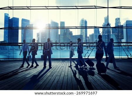 Business Travel Commuter Corporate Cityscape Trip Concept - stock photo