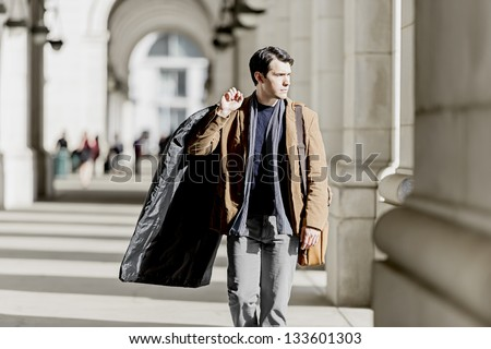 Business Traveler Returning Home - stock photo