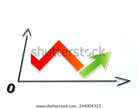 Business up - stock photo