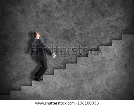 Business vision and strategy concept with businessman - stock photo