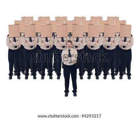 Business vision and team leader concept - isolated - stock photo