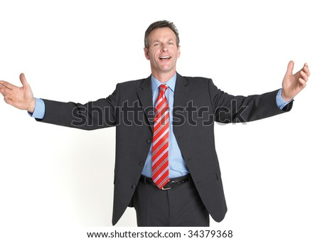 business welcome - stock photo