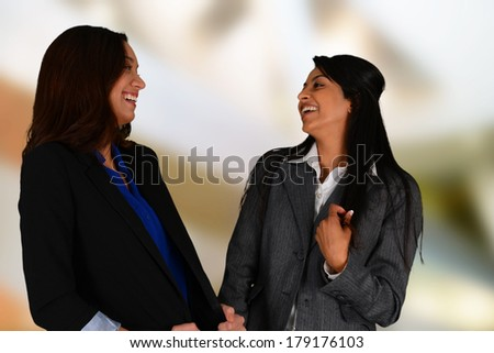 Business woman at the office ready to work - stock photo