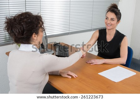 Business woman at work - stock photo