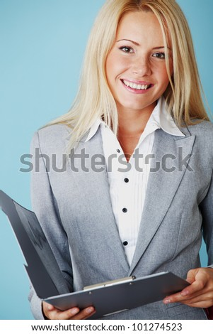 business woman close up - stock photo