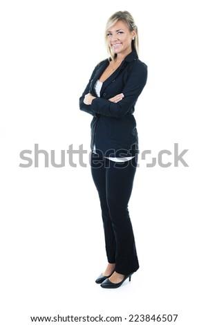 Business woman full body - stock photo