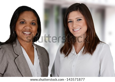 Business woman in her office at work - stock photo