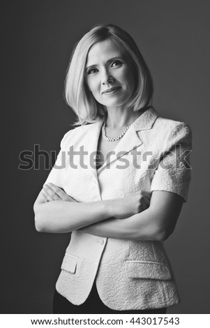 Business woman in suit - stock photo