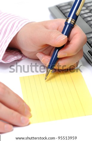 Business woman making schedule plan - stock photo