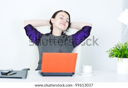 Business woman relax - stock photo