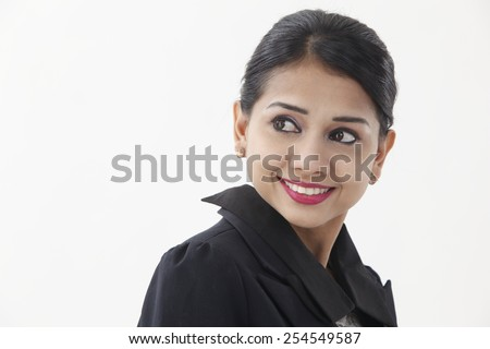 business woman turning back looking away - stock photo