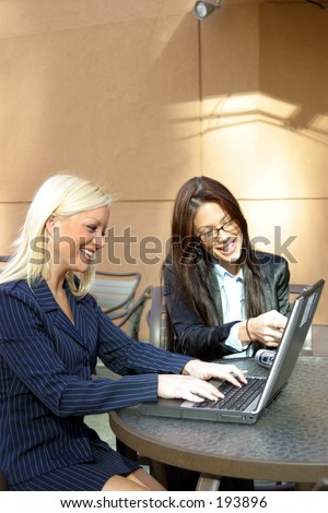 Business Women at Meeting - stock photo