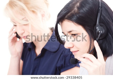 Business women in the office - stock photo