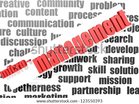business work of micro management - stock photo