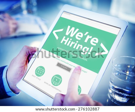 Business Worker Recruitment Hiring Office Working Concept - stock photo