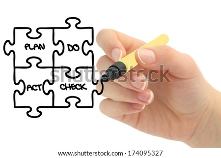 Business workflow - stock photo